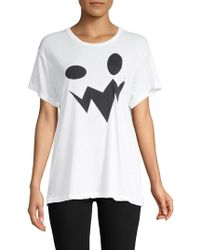 Wildfox - Manchester Oversized Graphic Tee - Lyst