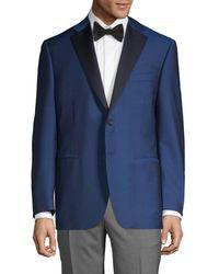 Canali Regular-fit Wool Blend Sportcoat - Blue