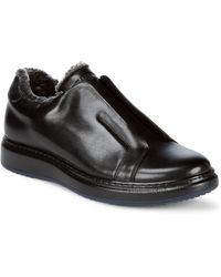 Karl Lagerfeld Laceless Leather Shoes - Black