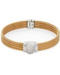 Charriol 18k White Gold & Diamond Bracelet - Multicolour