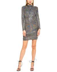 Alexia Admor Holographic Lurex Mini Dress - Metallic
