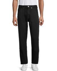 Helmut Lang Tapered Utility Denim Pants - Black