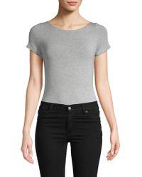 Felina Boatneck Crisscross Bodysuit - Gray
