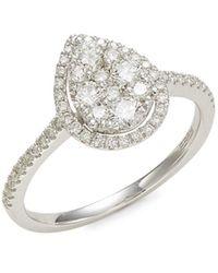 Effy Women's 14k White Gold & Diamond Ring - Size 7 - Metallic