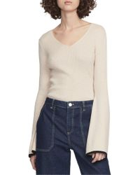 French Connection - Virgie Ribbed V-neck Sweater - Lyst