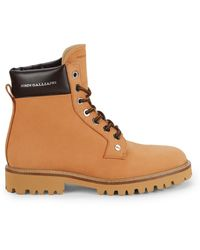 John Galliano Leather Hiker Boots - Brown
