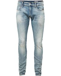 G-Star RAW Men's Revend Skinny Jeans - Antic Fade - Size 34 32 - Blue