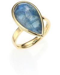Ippolita - Rock Candy London Blue Topaz, Labradorite & 18k Yellow Gold Doublet Ring - Lyst
