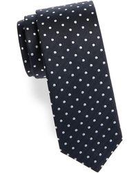 Saks Fifth Avenue - Herringbone And Dot Silk Tie - Lyst