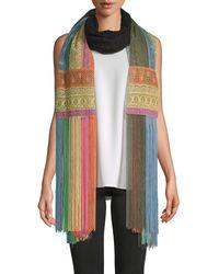 Valentino Garavani Multicolored Fringed Scarf - Multicolour