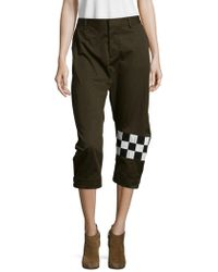 DSquared² - Cotton Cropped Pants - Lyst