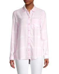 Beach Lunch Lounge Alanna Printed High-low Shirt - Pink