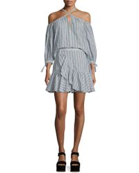 Rebecca Taylor - Striped Wool Blend Skirt - Lyst