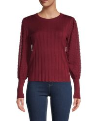 Joseph A Textured Bishop-sleeve Jumper