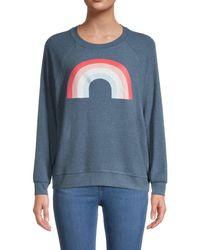 Wildfox Women's Freedom Rainbow Sweater - Sail - Size Xl - Blue