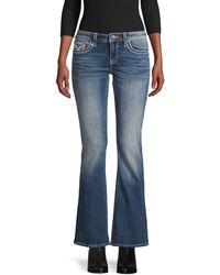 Vigoss Low-rise Bootcut Jeans - Blue