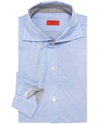 Isaia Cotton Jersey Dress Shirt - Grey