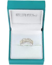 Effy Women's 14k Two-tone Gold & Diamond Link Ring/size 7 - Size 7 - Multicolour