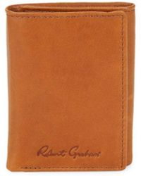 Robert Graham Men's Joan Rfid Leather Tri-fold Wallet - Black - Brown