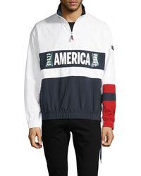 Perry Ellis America Graphic Colorblock Jacket - Multicolour