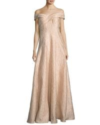 Adrianna Papell - Off-the-shoulder Gown - Lyst
