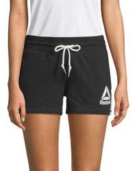 Reebok - Throwback Drawstring Shorts - Lyst