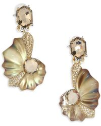 Alexis Bittar - Lucite Crystal Shell Clip-on Earrings - Lyst