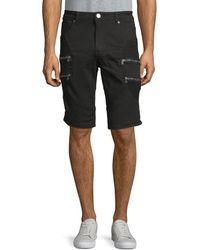 Xray Jeans Zip Pocket Denim Shorts - Black