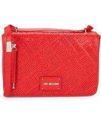 Love Moschino - Logo Embossed Crossbody Bag - Lyst