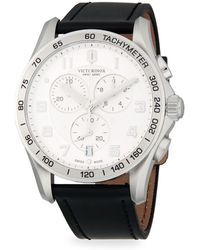 Victorinox - Chrono Classic Stainless Steel & Leather-strap Chronograph Watch - Lyst