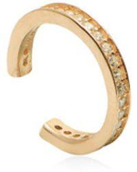 Gabi Rielle - White Crystal Cuff Earrings - Lyst