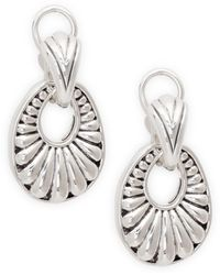 Lagos Chi Chi Sterling Silver Oval Drop Earrings - Metallic