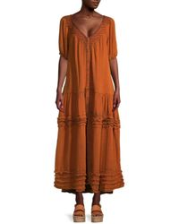 Free People Sunday Stroll Maxi Dress - Brown