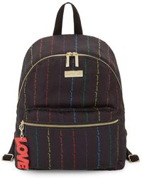 Peace Love World Classic Rainbow Script Backpack - Black