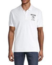 Moschino ! Logo Cotton Polo - White