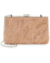 La Regale - Beaded Minaudiere Convertible Clutch - Lyst