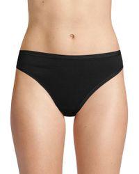 Ava & Aiden Stretch Cotton Thongs - Black