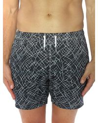 Bertigo Print Swim Shorts - Black
