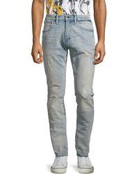 PRPS Languid Distressed Skinny Jeans - Blue