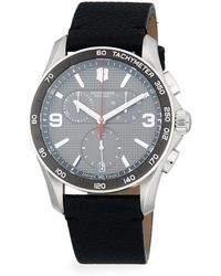 Victorinox Chrono Classic Stainless Steel & Leather-strap Chronograph Watch - Gray