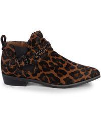 Gentle Souls Nepture Leopard-print Calf Hair Booties - Brown
