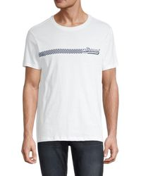 Ben Sherman Men's The Record Store Graphic T-shirt - Bright White - Size Xl