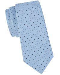 Armani Geometric-pattern Tie - Grey
