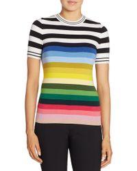 N°21 Rainbow Striped Knit Jumper - Blue