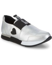 Love Moschino - Heart Slip-on Sneakers - Lyst