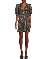 Zadig & Voltaire Camo-print Mini A-line Dress - Black