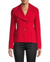 Akris Dava Oversized-lapel Jacket - Red