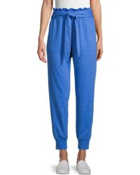 BCBGeneration French Terry Belted Joggers - Blue