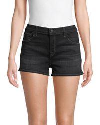 J Brand Low-rise Denim Shorts - Black