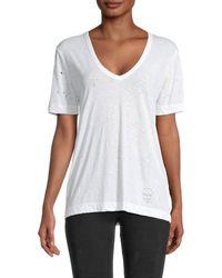Zadig & Voltaire Women's Wassa Holes T-shirt - White - Size M